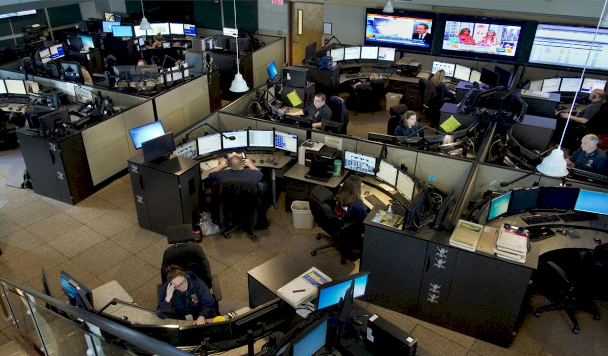 Raised Floor Applications - 911 Call Center
