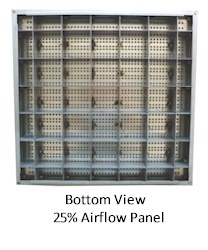 Wood Core Raised Access Floors System - Standard Air Flow Panel - Bottom
