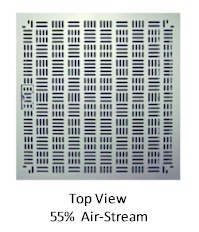 Universal 55% High Output Raised Access Flooring Air Grates - Top