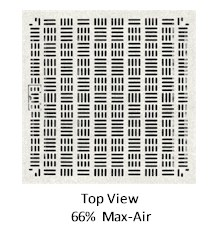 Universal 66% High Output Raised Access Flooring Air Grates - Top