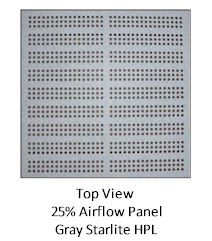 Concrete Raised Floor Systems - Standard Air Flow Panel - Top