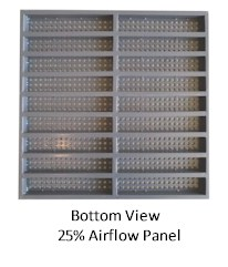 Concrete Raised Floor Systems - Standard Air Flow Panel - Bottom